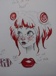 Candy Cane character design (WIP) by That-Artist-Chick