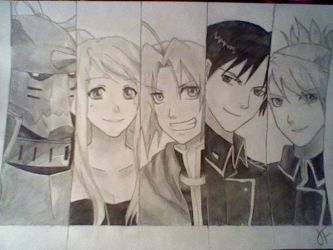 The Gang of Fullmetal Alchemist by TheJadedAlchemist