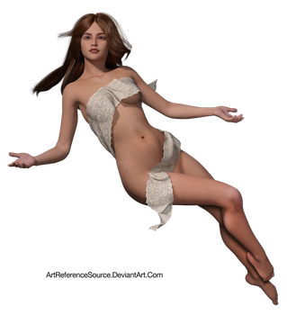 Free Stock:  Floating Angelic Figure PNG by ArtReferenceSource