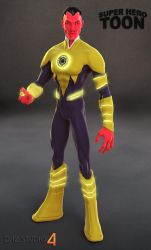 Sinestro Toon by 6and6