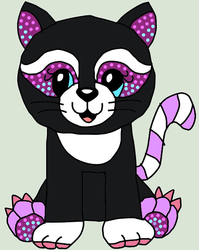 webkinz brilliant tuxedo kitty drawing by lpscat123