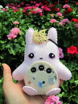 Spring/Summer Totoro Inspired Plushie by PacaBearsCafe