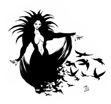 Raven Lady by ThomasBlakeArtist