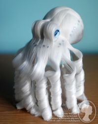 White and Grey Octopus Fascinator by deeed