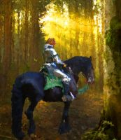 Knight in Forest by Pendragon1951