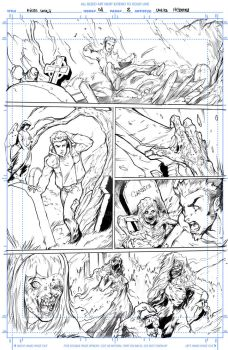 Night Wolf Comic Book Issue #1 Page #2 Sketch by RAM-Horn