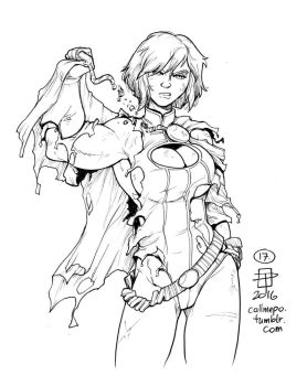 Callmepo inktober 17 Power Girl by limeykat