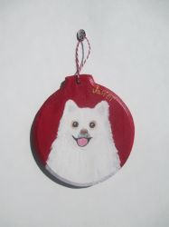 Pomeranian Ornament by MadalynC