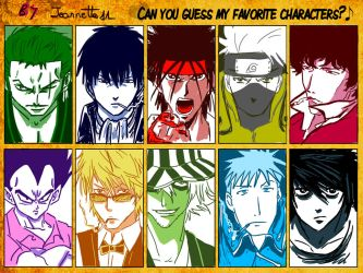 Can you guess my favourite characters? by Jeannette11