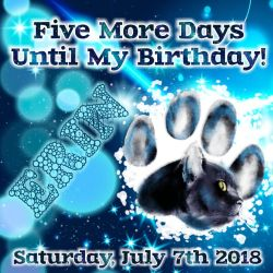 five days till my birthday by customxwordxpictures