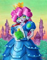 Prince Frog in Jar and Robot Princess by ninjatron