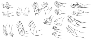 Hand Practice 4-1-17 by ANewENFArtist
