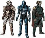Mandalorian Armors through time edit by tiamatnightmare