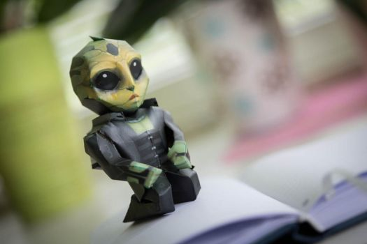 Mass Effect chibi Thane papercraft by ALIENmantis