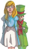 Hatter and Alice by MonocleBunny