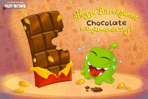 Om Nom. Happy Bittersweet Chocolate by Evelyn2d