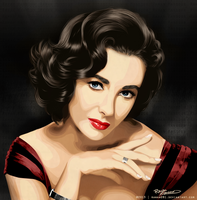 Elizabeth Taylor red by Rawan091