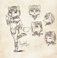 Krystal Sketches by icha-icha