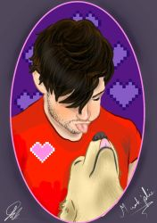mark loves his pup!x by bluemo123