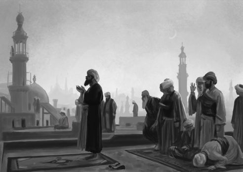 Gerome Priere au Caire, masterstudy painting by Ninorabbi