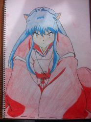 Inuyasha sitting in that oh so adorable position by xxxchannyxxx