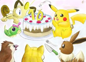 Happy 10th birthday Pokemon by sapphireluna