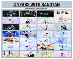 [PSDs] 4 Years With Bangtan Sonyeondan by MyMinniiee-PJ95