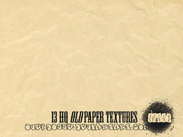 13 HQ Old paper Textures by overdosse