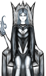 Lilith the Ice Demon sketch request by Athenas-Sanctuary