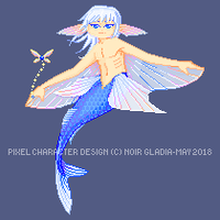 Flying Fish Merman [ADOPT][AUCTION OPEN] by Noir-Gladia