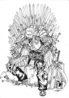 Arthas Iron Throne by SpiderGuile