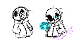Sans Sketches by Coffee-Fawn