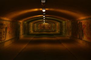 illuminated tunnel by LoveForDetails