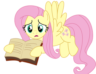 Fluttershy With a Book by PaulySentry