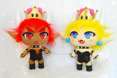 Bowsette plushies by TiffyyyCuppyCake