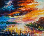 The Lake Of Memories by Leonid Afremov