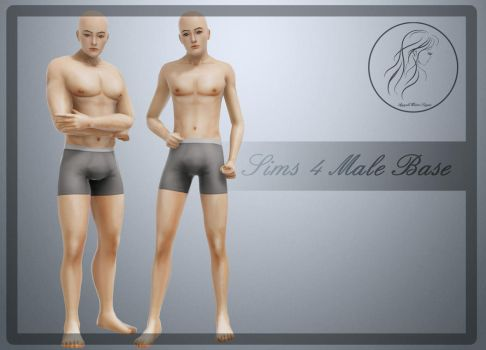 [MMD] Sims 4 Male Base Ver.2 (+Download) by AppleWaterSugar