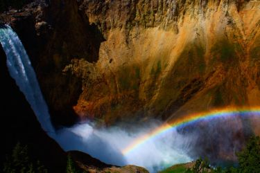Rainbow over the Falls by jakeh13