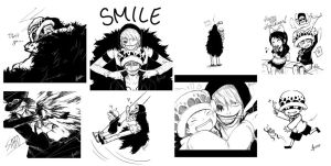 Twitter/Tumblr Doodles: One Piece by ruina