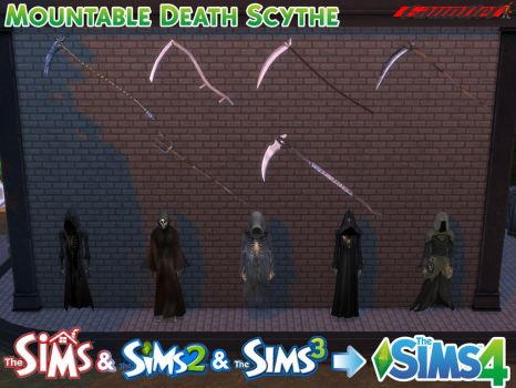 Sims4 Wall Mounted Death Scythe Conversion by Gauntlet101010