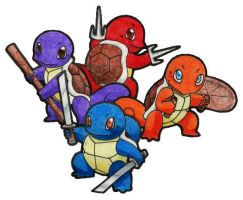 Ninja Squirtles by Rose-Hunter