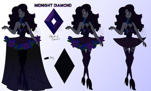 [OC] Diamondsona - Midnight Diamond by Gnome-Queen