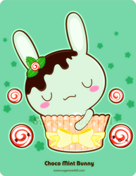 Chocolate Mint Bunny by mAi2x-chan