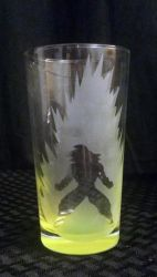 Dragonball Z (DBZ) Goku Etched Glass by LillyInverse