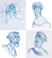 Frollo sketches by FlyingCarpets