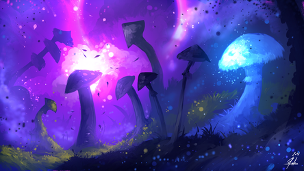 Mushrooms Forest by ryky