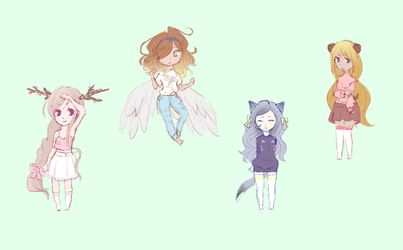 Animal Themed Adopts [LOWERED] [POINTS/PAYPAL] by ZinniaKet
