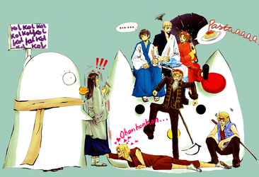 Hetalia Gintama Crossover by witchofwest