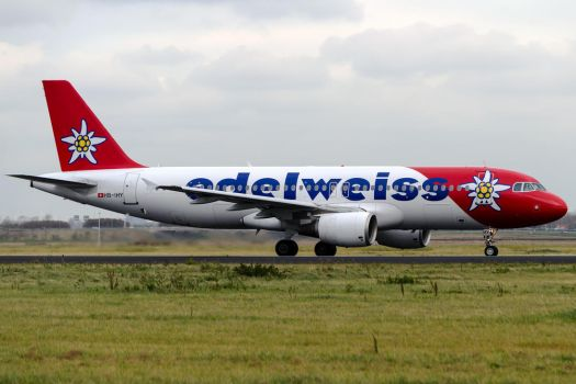 Edelweiss Air Airbus A320-214 by SliverFoxNL