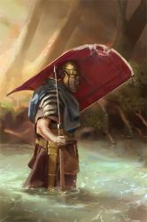045 - roman legionary WIP 02 by NickProkoArt